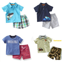 Carter's Boy 2pcs Summer Casual Clothing Set, Carters Boys Clothes,T-shirt & Shorts Set,  IN STOCK, Free Shipping