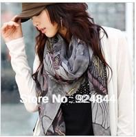 Scarves, Begonia flowers, Female, Han edition scarves, Begonia flower shawl, Long scarf, support wholesale