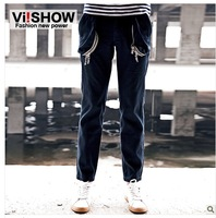 viishow fashionable pants casual pants men's casual fashion men's jeans trousers male pantyhose