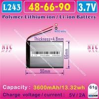 [L243] 3.7V,3200mAH,[486690] PLIB (polymer lithium ion battery ) Li-ion battery for tablet pc,power bank,cell phone,speaker