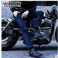 viishow summer new fashion men's casual pants straight jeans blue slacks trousers men trousers Bottoms