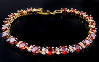 Jewelry New ruby lady's 18KT yellow Gold Filled bracelets gift Zircon bracelets