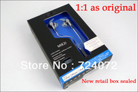 Free shipping 1:1 as original MIE2i in ear earphones for iphone/for ipod. with mic in new box