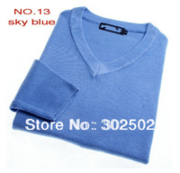Hot Selling Retail men's sweater V-neck sweater, casual sweater  . free shipping !