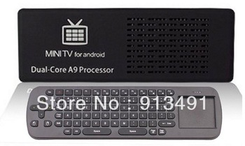 MK808B 4.2 Mini PC Dual Core Stick Mini PC TV Dongle MK808 Bluetooth Version With Free RC12 Air Mouse Keyboard Russian