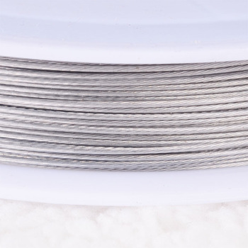 Stainless steel wire 0.45mm plainsilver tigertail beading wire,thread cord,coated with plastic protective film wire