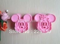 Free shipping 2PCS Pink shape mold sugar Arts set Fondant Cake tools/cookie cutters