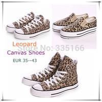 Fashion Women's Leopard Canvas Shoes EUR35--43 Plus Size,  Platform/Flat Sneakers Printing Shoe  #JM05093--Free Shipping