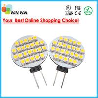 12V G4 Warm White 24 3528  SMD LED Light Home Car RV Marine Boat Lamp Bulb 10pcs/lot Free shipping