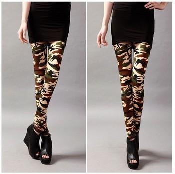 2013  Cotton Printed camouflage handsome wild graffiti leggings Leggings pencil pants