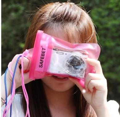 waterproof digital Card camera backpack camera bag drifting for Rafting Swimming Water Park free shipping(China (Mainland))