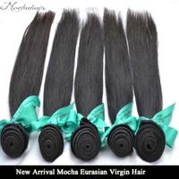 "New Arrival Mocha Hair Virgin Eurasian Hair, 4pcs/lot 10""-32inch"",Straight Hair Extensions Remy Hair Weave Natural Color"