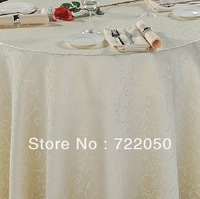 high quality jacquard design solid colours 160 x 160cm polyester table cloth