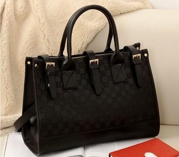 Brand 2014 fashion women handbags high quality CheckerBoard designers shoulder bags for woman#1146