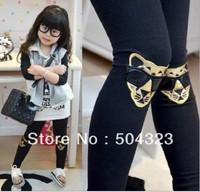 FREE SHIPPING hot kids girls leopard pants baby girls fashion cotton pants, elastic waist legging pants spring autumn retail
