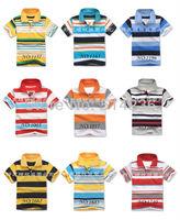 HOR NEW FREE SHIPPING baby boy summer short sleeve striped shirt boys summer clothing boy fashion casual shirt 5pcs/lot