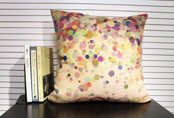"Free shipping Cotton Linen Fabrics Decorative pillow cover 18""Colorful bubble"