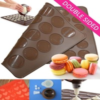 Free Shipping Factory Wholesale Macaron Set Including Circle Silicone Mat+Heart Silicone mat+Butter Cream Squeezing