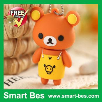 Free Shipping EMS/DHL New Apron Bear Lovely USB Flash Drive 1GB 2GB 4GB 8GB 16GB credit card usb flash drive