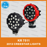 "Motorcycle 7"" 51W 12V 24V Spot flood beam LED driving light for SUV ATV OFF-ROAD Off-road Truck Heavy duty 3700 Lumen KR7511"