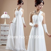 Free shipping 2013 new bride classical Greek special red white long dress