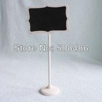 10x Mini Blackboard Chalkboard Chalk board Stand Place Holder Prefect for Wedding Party Decoration | White Print | 1121