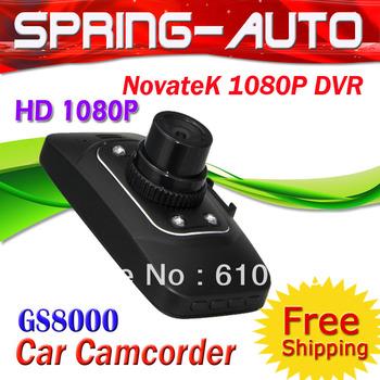 "FREESHIPPING GS8000  HD1080P HD CAR DVR DOD Camera spy cam 2.7""+AVI +G-sensor+130 Angle module cardod camera"