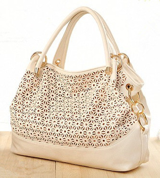 Special offer  high quality PU leather women handbag brand Hollow out chrysanthemum flower candy color restore bag freeshipping