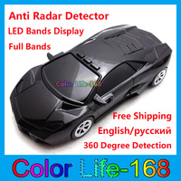 100% High quality  Anti Radar Detector with Russian & English Voice Adjustable Volumes 3 Colors Selection Free Shipping