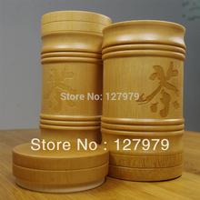 Do Promotion!!! Natural Bamboo tea bucket, bamboo tea caddy, about 15*7.5cm , jar, wholesale!(China (Mainland))