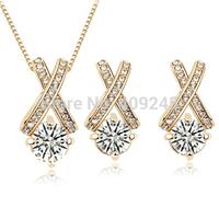 free shipping cross jewelry set zircon,Tz-1116