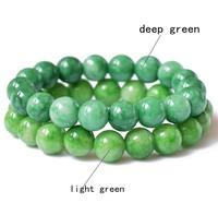 Green Beads Bracelet Natural Jade Bracelets Fashion Jewelry For Men Women Drop Shipping 050