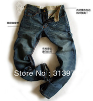 Best-selling denim straight trousers personality fashion designer famous brand men clothing 28-38 yard BCD20185J Free Shipping