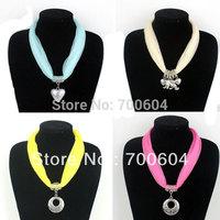 6 pcs/lot 2014 New Arrival! Spring/Autumn Solid Color Fabric Choker Pendant Scarf Necklace, Wholesale, LH173-1