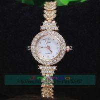 100pcs/lot JW-823 Full Crystal Ladies Luxury Alloy Watch Unique Design Stainless Steel Quartz Dress Watch Wrap Bracelet Watch