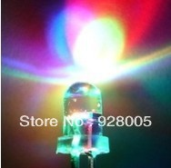 Wholesale LED 5MM 7Color (RGB) Automatic flash  LED diode diodes