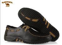 camel Korean men's casual men's fashion shoes breathable men's British business matte leather shoes big yards 45.46 47