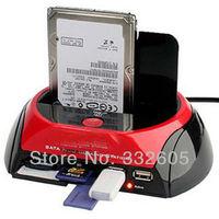 "All in One Card reader! USB 2.0 2.5""/3.5"" SATA HDD Docking Station e-SATA  Card Reader Hard Disk Reader CF TF MS SD Reader"