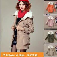 New Women's Down Parka Female Plus Size Thickening Warm Jacket lady Warm  Fur Collars Coat  Women's Coat down Jackets Outerwear