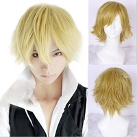 Free Shipping perucas Shizuo Heiwajima Anime Synthetic Hair Men Straight Short Blonde Cosplay Full Hair Wig