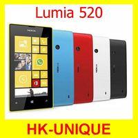 Original Nokia Lumia 520 Dual core 5MP camera WIFI 4 Inch GPS Windows OS 8GB storage Unlocked cell phones free shipping