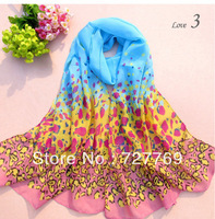 PROMOTION Sexy and fashion LEOPARD printing scarf 160 cm*50 cm long chiffon scarves for women