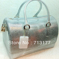 2013 new colors women ladies jelly candy tote bag summer beach handbag--Free shipping