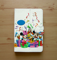 Free shipping, 7 inch Dis ney cartoon picture Tablet pc leather case  for  N7100 cover