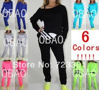 6colors!!!!   advance booking!!!2013 autumn new style girl shampooers set, women shampooers set,sports set 3colors