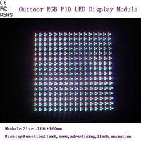 Waterproof  P10 Outdoor RGB Full Color 1R1G1B LED Display Screen Module 160*160mm