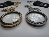 Freeshipping fashion vintage quality 2-color monocle necklace