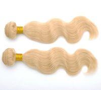 5pcs/lot JOAN Body Wavy Light Blonde 613 # Philippines Virgin Kinky Hair Extension Remy Kinky Hair