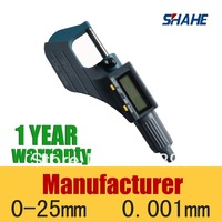 Free Shipping Good Quality Digital Outside Micrometer Electronic micrometer Measuring Tool 0.001mm 5202-25