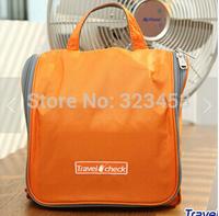 Travel  Check Waterproof Storage Cosmetic Bag Korea Hanging Organizer Wash Bag Toiletry kits Make Up Case Free Shipping